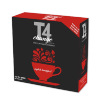 T4CHANGE ENGLISH BREAKFAST Envelope Tea Bags 2G X 100