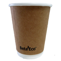 8oz X (500) Disposable Brown Eco Double Wall Paper cups