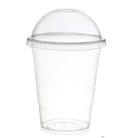 Smoothie 100 Cups and 100 Lids (16oz PET)-Clear Plastic Domed Lid-Disposable