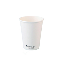 12oz X (1000) Disposable White Eco Paper Cups