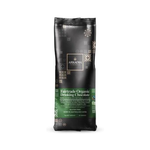 ARKADIA Fair Trade Organic Drinking Chocolate 1kg - Cafe Supplies