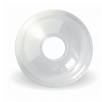 BioPak 300-700ml CLEAR Dome LID With 22mm Hole x1000