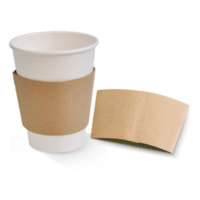 Brown Kraft Cup Sleeve fitting 12/16oz Cups x 100