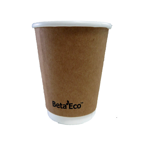 4oz X (100) Disposable Brown Eco Double Wall Paper cups